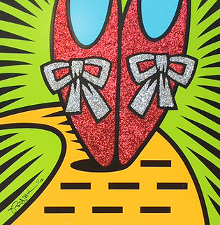 Ruby Slippers Embellished  Limited Edition Print - Burton Morris