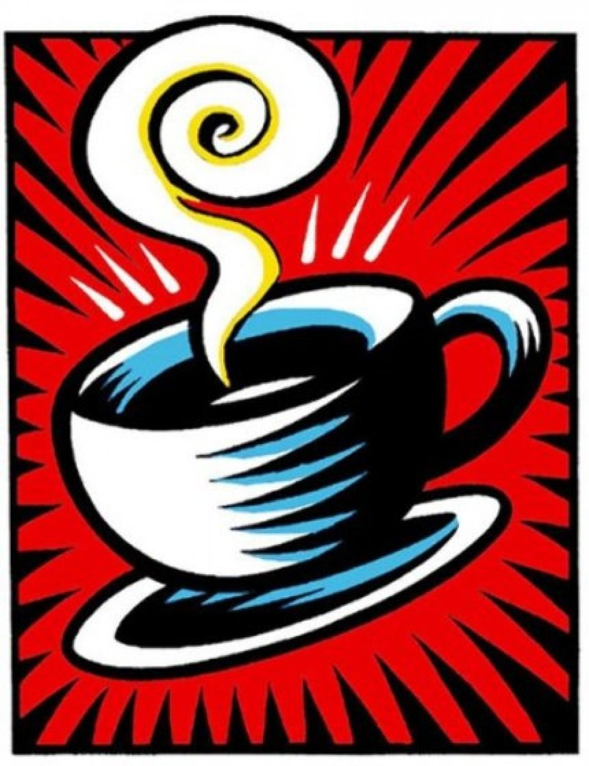 Coffee Cup State II 2000 Limited Edition Print by Burton Morris