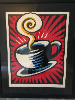 Coffee Cup State II 2000 Limited Edition Print by Burton Morris - 1