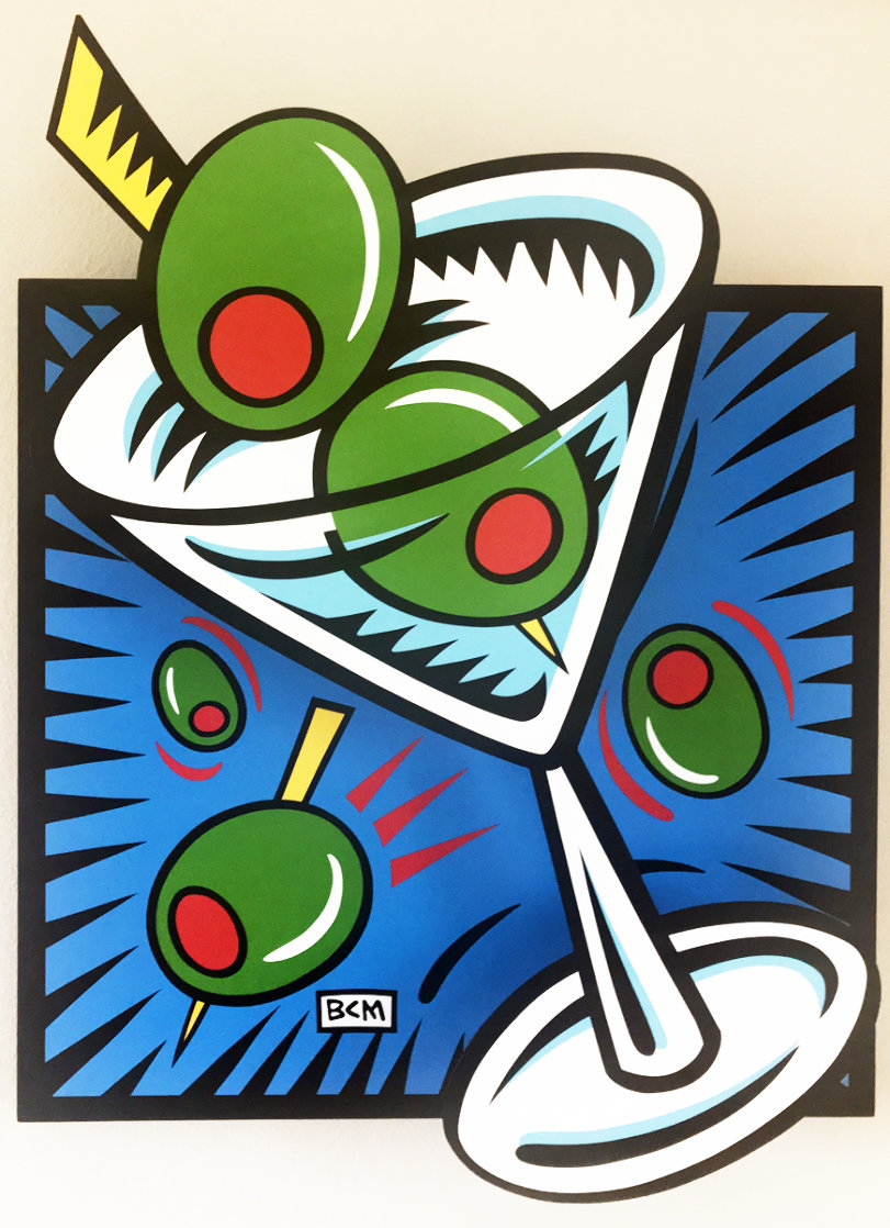 Martini State III (Blue) 2000 Limited Edition Print by Burton Morris