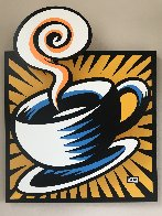 Coffee Cup State III Yellow 2001 Limited Edition Print by Burton Morris - 0