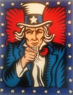 I Want You 1998 60x48 Huge Original Painting - Burton Morris