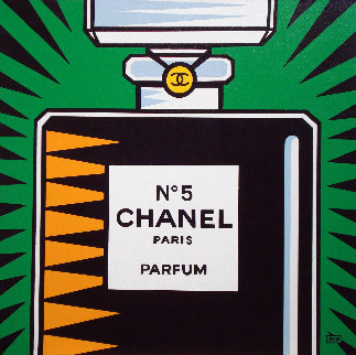 Chanel No. 5 2010 30x30 Original Painting by Burton Morris