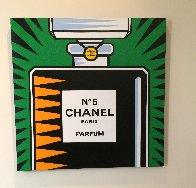 Chanel No. 5 2010 30x30 Original Painting by Burton Morris - 2