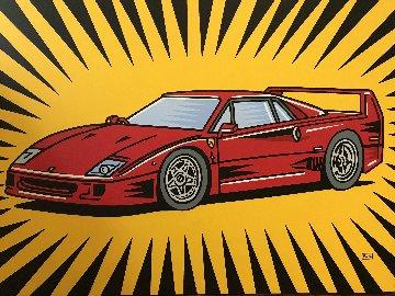 Ferrari F40 2008 30x40 Original Painting - Burton Morris