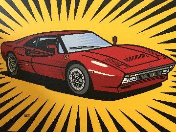 Ferrari 288 GTO 30x40 Original Painting - Burton Morris