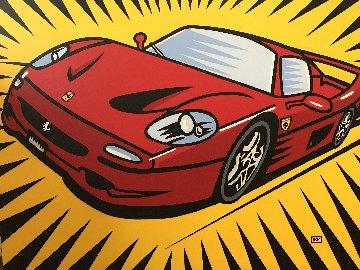 Ferrari F50 2008 30x40 Original Painting - Burton Morris
