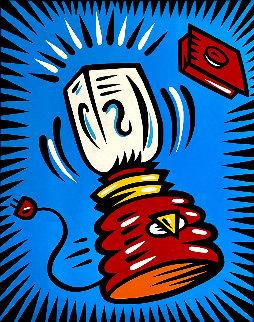 Blender 1998 64x52 Super Huge Original Painting - Burton Morris