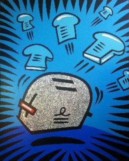Glitter Toaster 1998 60x48 Original Painting - Burton Morris