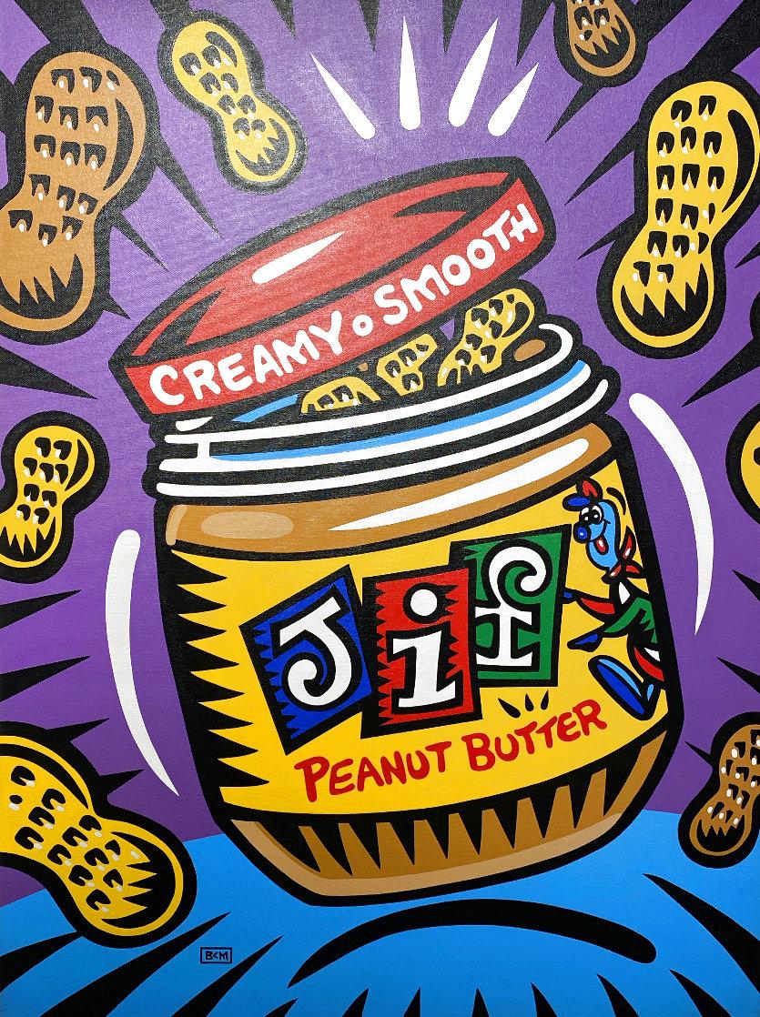 Jif 2008 40x30 Original Painting by Burton Morris