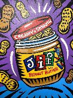 Jif 2008 40x30 Original Painting by Burton Morris - 0