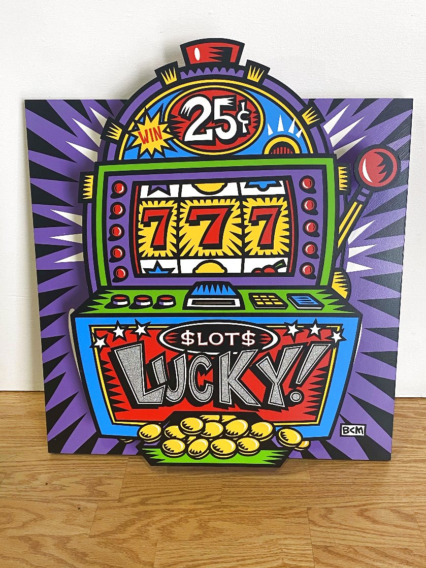 Lucky Slots Tryptych Limited Edition Print by Burton Morris