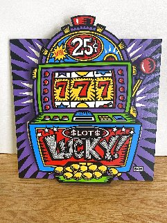 Lucky Slots Tryptych Limited Edition Print - Burton Morris