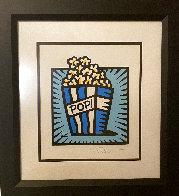 Popcorn 2002 21x19 Works on Paper (not prints) by Burton Morris - 1