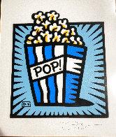 Popcorn 2002 21x19 Works on Paper (not prints) by Burton Morris - 2