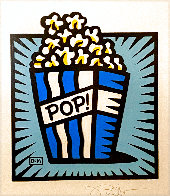 Popcorn 2002 21x19 Works on Paper (not prints) by Burton Morris - 0
