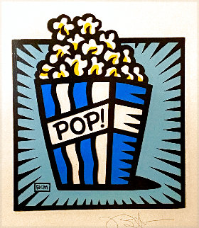 Popcorn 2002 21x19 Works on Paper (not prints) - Burton Morris