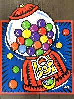 Gumball Pop Up on Wood 1999 28x24 Original Painting by Burton Morris - 1