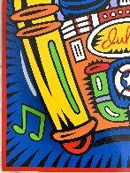 Juke Box Pop Up on Wood 1999 27x24 Limited Edition Print by Burton Morris - 4