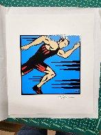 Runner 2002 16x14 Original Painting by Burton Morris - 1