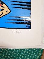 Runner 2002 16x14 Original Painting by Burton Morris - 2