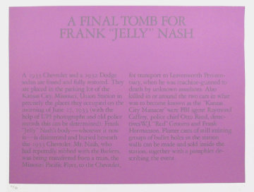 A Final Tomb For Frank Jelly Nash Limited Edition Print - Robert Morris