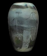 Petroglyphs (vase and 3 Stepping Stones Glass Sculpture) 1986 Sculpture by William Morris - 1