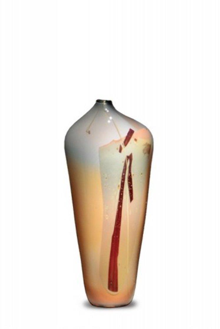 #66 Styhetta Glass Vase 1979 (early work) Unique Sculpture by William Morris