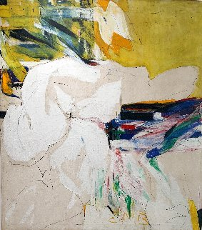 Untitled Abstract Painting - 1957 Oil on Canvas 48x54 Original Painting - Ed Moses