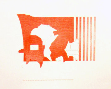 Untitled Lithograph 1969 Rare Proof Limited Edition Print by Ed Moses