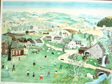 Spring in the Valley 1986 Limited Edition Print - Will Moses