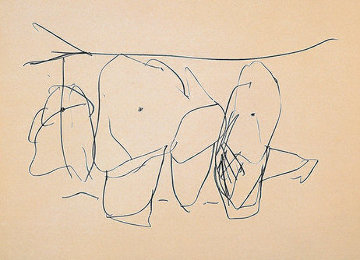 Mexico City Personages I: Octavio Paz Suite AP 1988 Limited Edition Print - Robert Motherwell