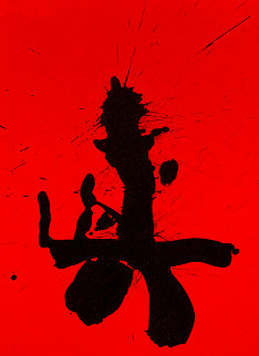 Octavio Paz Suite: Red Samurai AP 1987 Limited Edition Print - Robert Motherwell