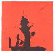 Octavio Paz Suite: Red Samurai AP 1987 Limited Edition Print by Robert Motherwell - 3