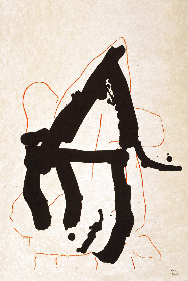 Beau Geste VII 1989 Limited Edition Print by Robert Motherwell
