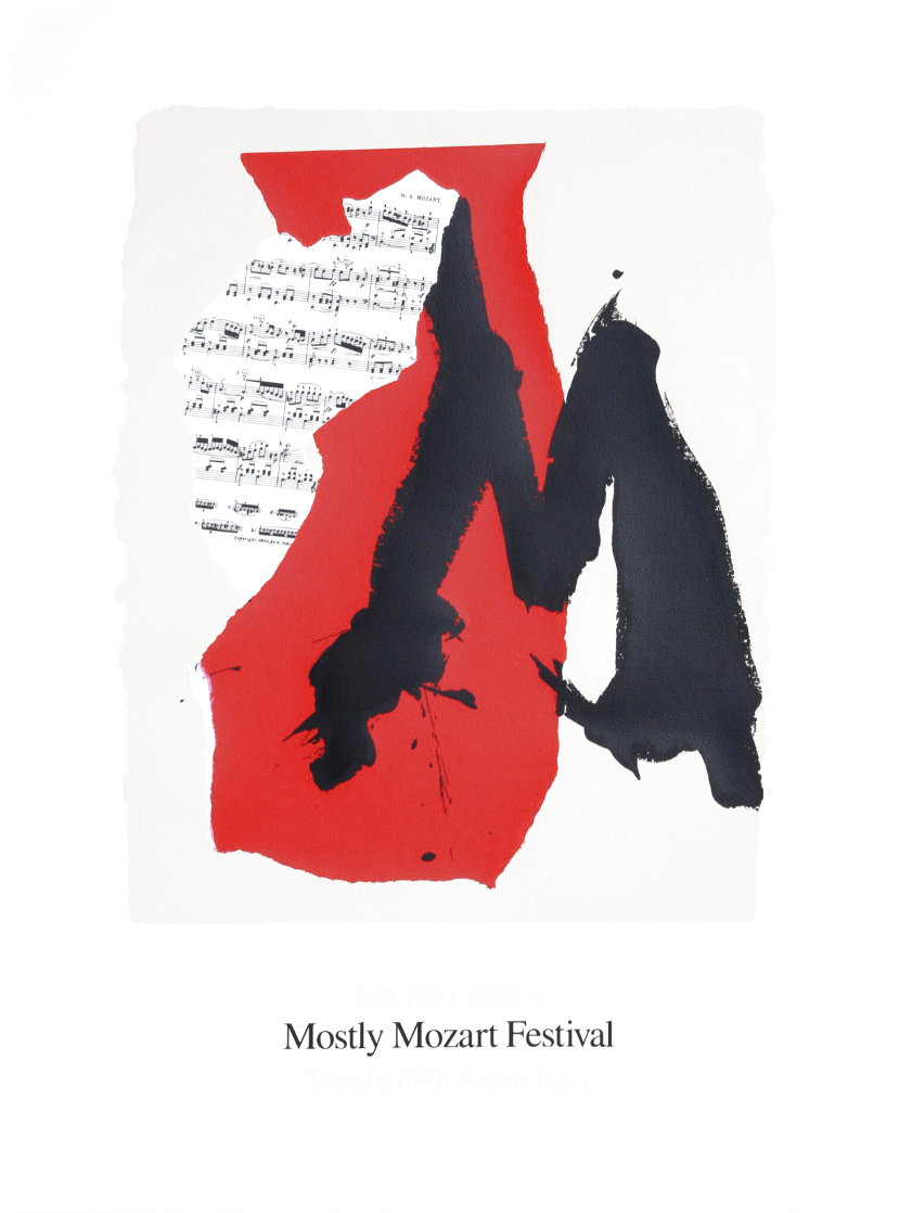 Lincoln Center Mostly Mozart Festival 1991 Limited Edition Print by Robert Motherwell