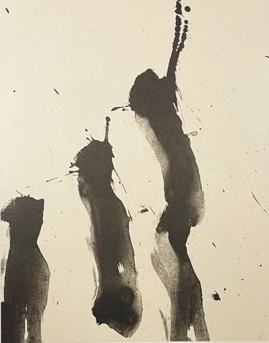 Three Poems: Untitled Lithograph  1987 Limited Edition Print by Robert Motherwell
