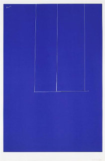 London Series 1: Untitled (Blue) 1971 Limited Edition Print - Robert Motherwell