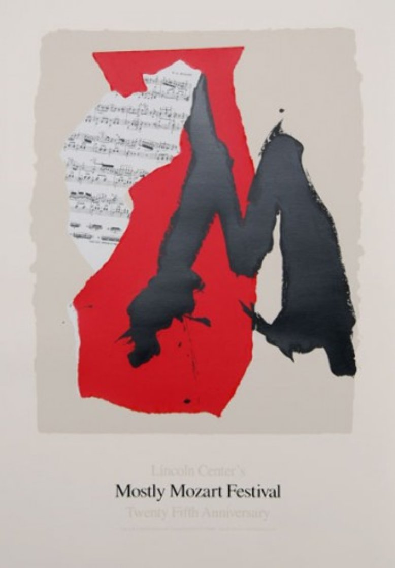 Lincoln Center Mostly Mozart, 25th Anniversary Poster 1991 Limited Edition Print by Robert Motherwell