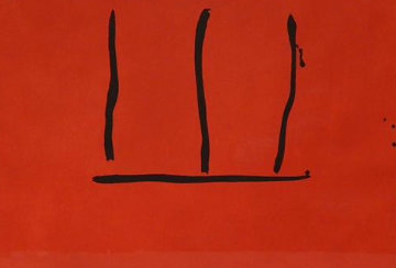 Untitled (Red Aquatint Open) 1972 Limited Edition Print by Robert Motherwell