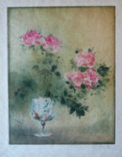 Roses in Vase 1985 Limited Edition Print - Kaiko Moti