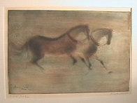 Paris Horses AP 1966 Limited Edition Print by Kaiko Moti - 1