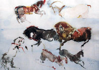 Rare Set of 5 Untitled Animal Etchings 1964 Limited Edition Print by Kaiko Moti - 0