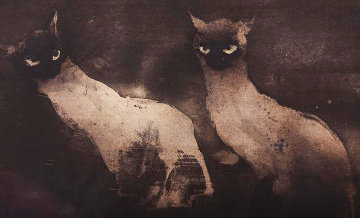 Les Chats 1981 Limited Edition Print by Kaiko Moti