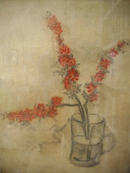 Orange Blossoms in a Vase 1980 Limited Edition Print by Kaiko Moti