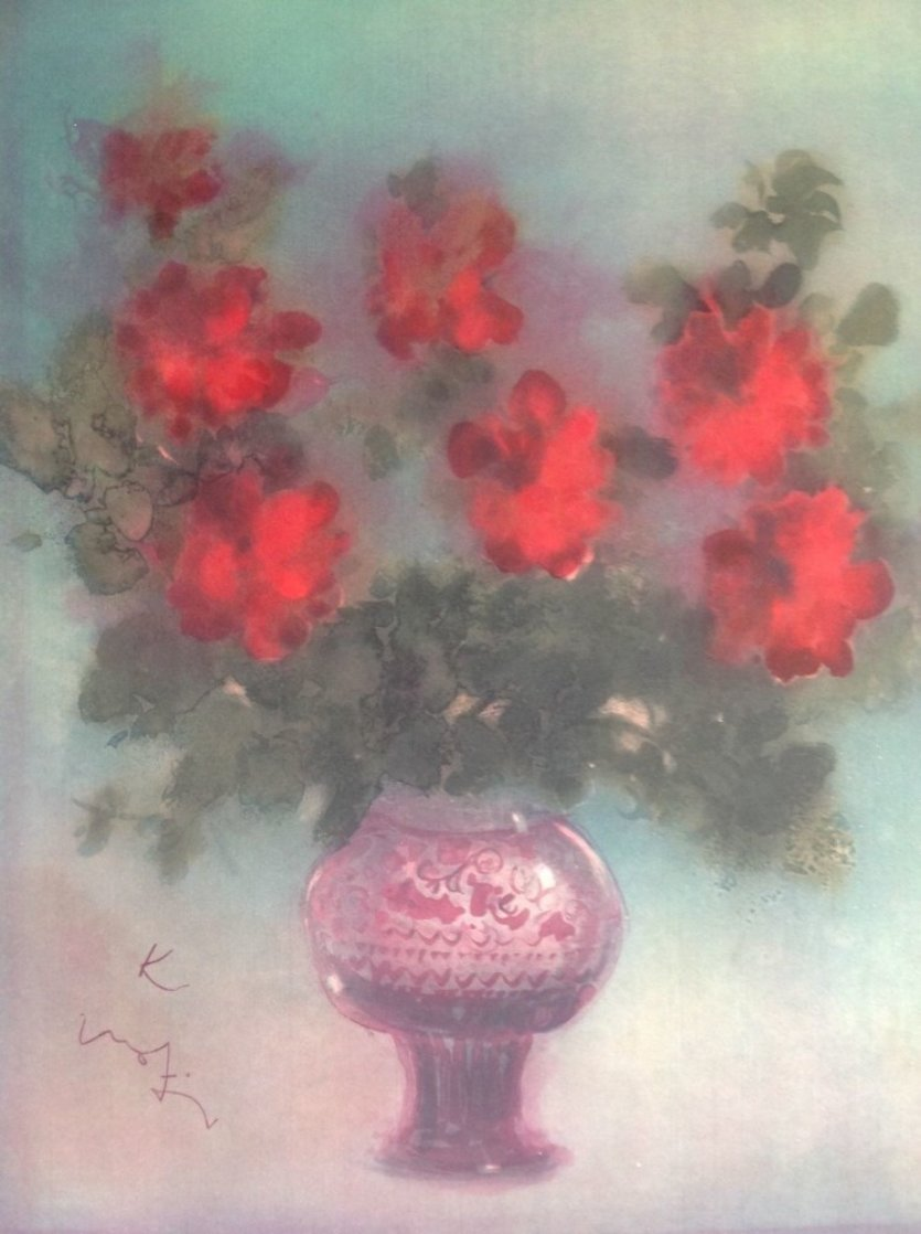 Fleurs Rouges 1975 Limited Edition Print by Kaiko Moti