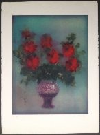 Fleurs Rouges 1975 Limited Edition Print by Kaiko Moti - 2