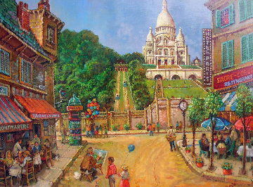Le Sacre Coeur 48x38 Original Painting - Fil Mottola