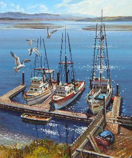Morro Bay 26x30 Original Painting by Fil Mottola
