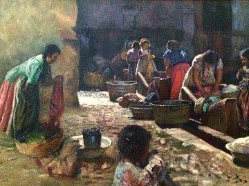 Untitled Latin Painting 56x32 Huge Original Painting - Fil Mottola